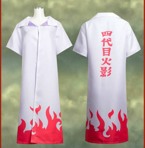 Naruto Shippuden 4th Leaf Hokage Costume Cosplay Robe Cloak Cape Size: M Medium