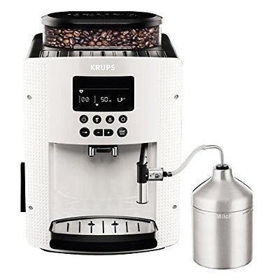 Krups EA8161 Kaffeevollautomat Latte- und Cappuccino Maschine 15 bar, Weiß