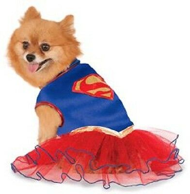 RD 580324 Pet Dog Costume Fancy Dress DC Comics Supergirl Superwoman Hero Tutu - Superwoman Tutu