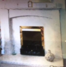 Marble Fireplace with Hearth Excellent Condition, REMOVED READY TO COLLECT