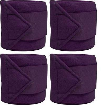 Set Of 4 PURPLE Fleece Polo/Leg Wraps ! NEW HORSE TACK!