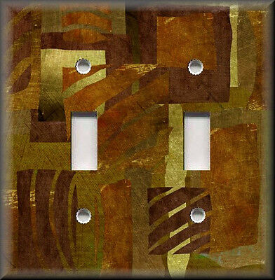 Metal Light Switch Plate Cover Abstract Art Wild Safari Brown African Home (Safari Switchplate)