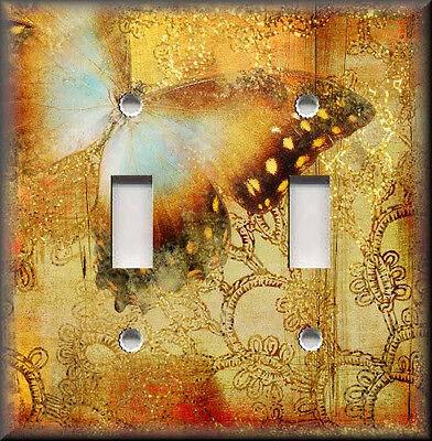 Light Switch Plate Cover - Shabby Golden ...