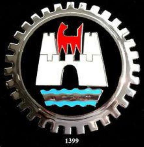 WOLFSBURG GERMANY AUTOMOBILE GRILLE BADGE EMBLEM