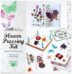 CRAFT DECO FLOWER PRESS SET PRESSING PETAL LEAVES KIT CRAFT GIFT SET 16-8054