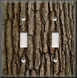 Light Switch Plate Cover Image Of Tree Bark Rustic Cabin