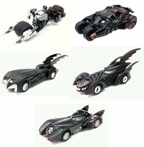 TAKARA TOMY TOMICA LIMITED BATMAN BATMOBILE COLLECTION SET OF 5.