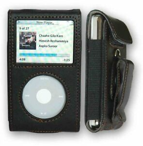 Black Leather Case for Apple iPod Video/Classic