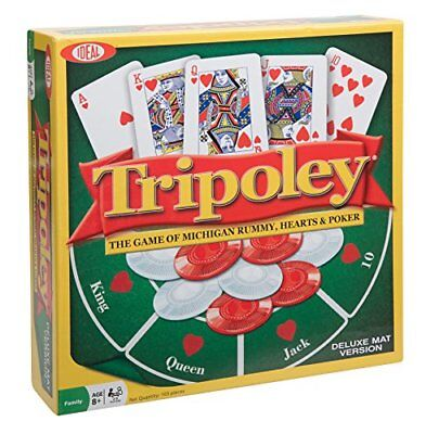 Ideal Tripoley Deluxe Mat Edition Card Game ()