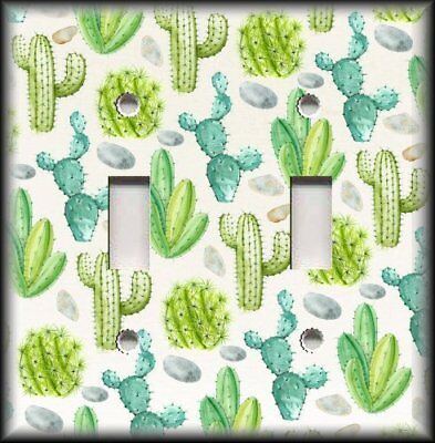 Metal Light Switch Plate Cover - Succulents Mixed Cactus Succulent Home Decor   ()