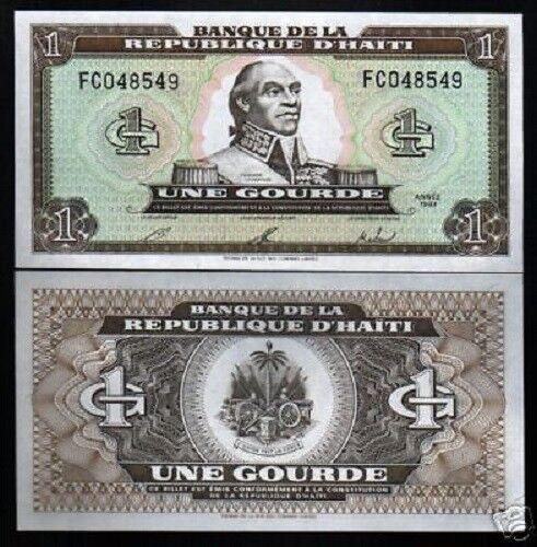 HAITI 1 GOURDE P-259 1993 x 100 Pcs Lot  BUNDLE T.L
