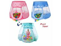 Childrens Kids Baby Indoor Fun Fairy Play House Tents Ball Pit Pop Up Playhouse
