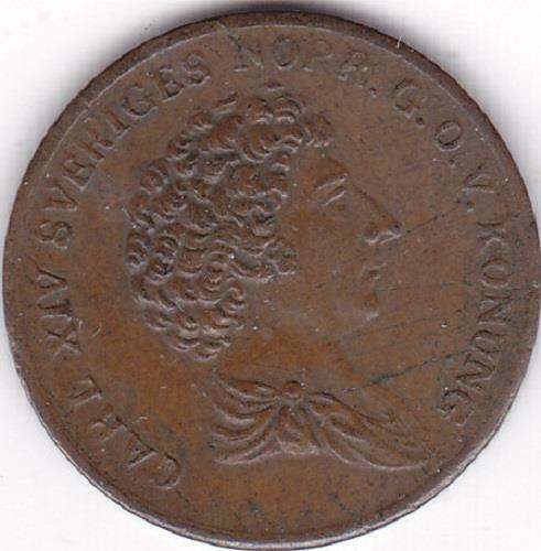 1832 Carl XIV of Sweden 1/6th of a Skilling