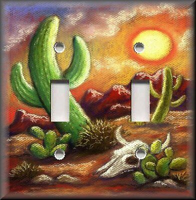 Metal Light Switch Plate Cover Southwestern Decor Desert Saguaro Cactus Decor ()