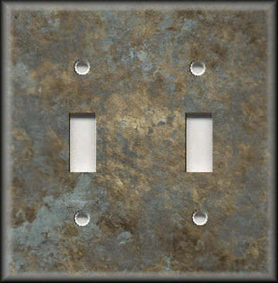 Age Light Switch Covers (Light Switch Plate Cover - Image Of Aged Metal Gold Silver Home Decor Rustic)