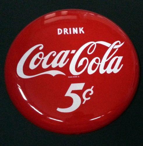 Coca Cola Button Sign Ebay