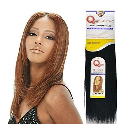 MILKYWAY 100% HUMAN HAIR QUE YAKY WEAVE REMY 100% Human Hair Weave