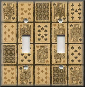 Light Switch Plate Cover Vintage Playing Cards Game Room
