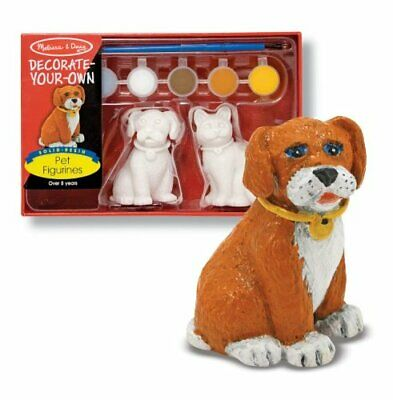 Melissa & Doug Decorate-Your-Own Pet Figurines Craft Kit - Paint a Cat and Dog Own Pet Figurines