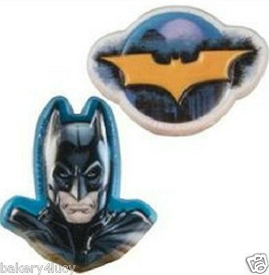 12 BIRTHDAY HERO BOY PARTY SUPPLIES FAVORS MOVIE CAKE CUPCAKE RINGS BATMAN 12](Batman Cupcake Rings)