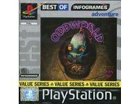 ODDWORLD ABES EXODUS Playstation 1 game
