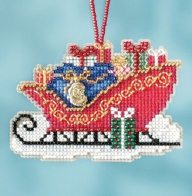 10% Off Mill Hill Sleigh Ride Series X-stitch/Bead Kit - Traditional Sleigh