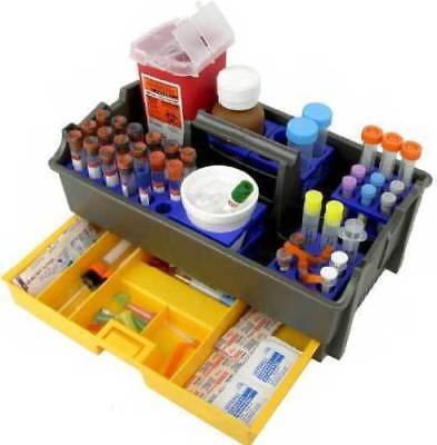 New Unico Phlebotomy Tray With 4 Tube Cubes 48700 Plastic Laboratory Carrier