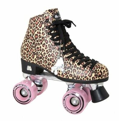 Riedell Moxi Ivy Leopard W  Pink Womens Indoor Outdoor Roller Skates Size 8 Nib