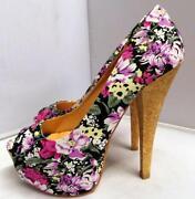 Flower Print Shoes