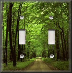 Light Switch Plate Cover Green Tree Lined Country Road