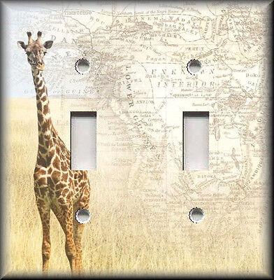 Metal Light Switch Plate Cover - African Giraffe - Home Decor - Safari Decor (Safari Switchplate)