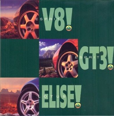 1997 original Lotus Esprit V8 Esprit GT3 Elise Brochure Catalogue