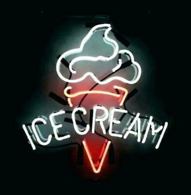 New Ice Cream Shop Open Neon Light Sign 14