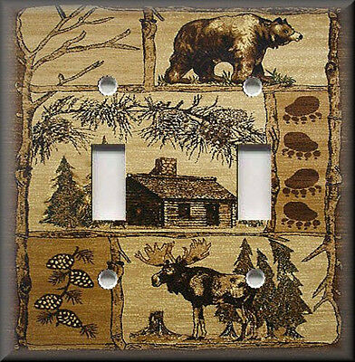 Moose Light Switch Cover (Metal Light Switch Plate Cover - Rustic Bear And Moose Cabin Decor Lodge Decor )