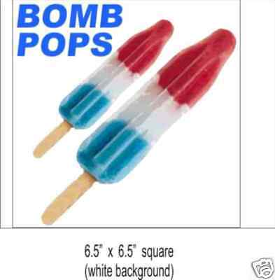 2 Bomb Pops Ice Cream Concession Decal Sticker Food Truck