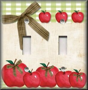 Light Switch Plate Cover Country Kitchen Apples Home Decor