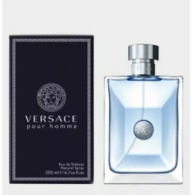 VERSACE Pour Homme 200ml EDT Men's Spray New Boxed Retail Sealed FREE P&P GF2