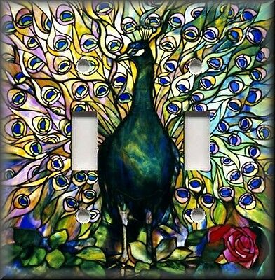Light Switch Plate Cover - Colorful Peacock ...