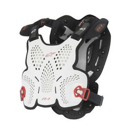New Adult Alpinestars BNS A1 Body Armour Chest Protector Motocross White