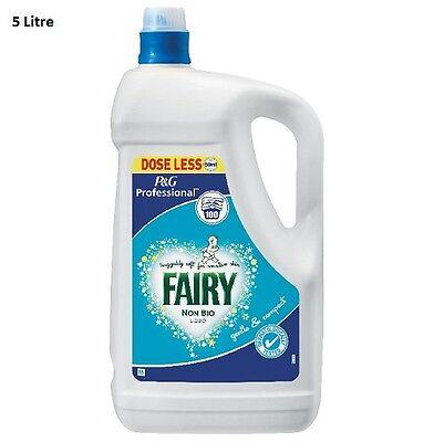 Fairy Non Bio Laundry Washing Liquid P & G Professional 5 Litre 100 Washes