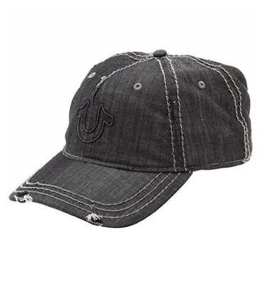 New True Religion Hat Black Distressed Horseshoe Baseball Fashion Trucker Cap