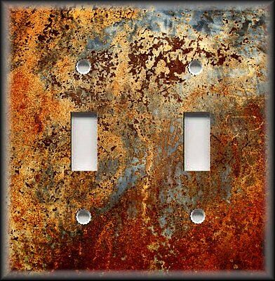 Light Switch Plate Cover Image Of Aged Copper Design Patina - Home Decor Rustic  Decorative Switch Cover Plates
