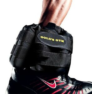 NEW Gold's Gym Pair of 20 lb Adjustable Ankle/Wrist/Arm/Leg Weights-Shape & Tone