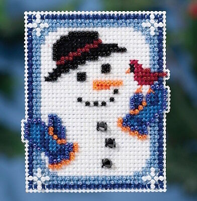 10% Off Mill Hill Counted X-stitch/Bead Kit - Winter Holiday - Invisible Snowman