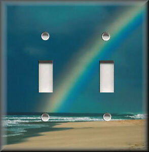 Light Switch Plate Cover Beach Rainbow Home Decor