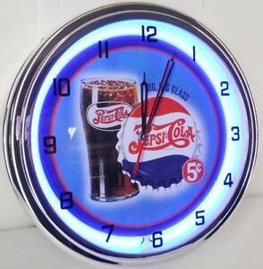 vintage lighted wall clock