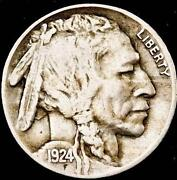 1924 P Buffalo Nickel