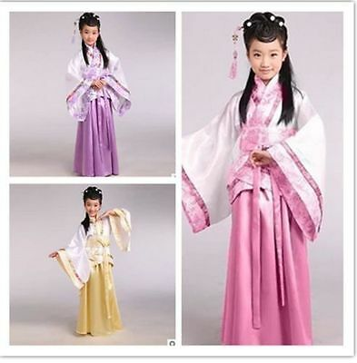 Girl's Studio Fairy Ancient Suit Hanfu Costume Chinese Folk Dance Dress For Kids (Fairy Costume For Teens)