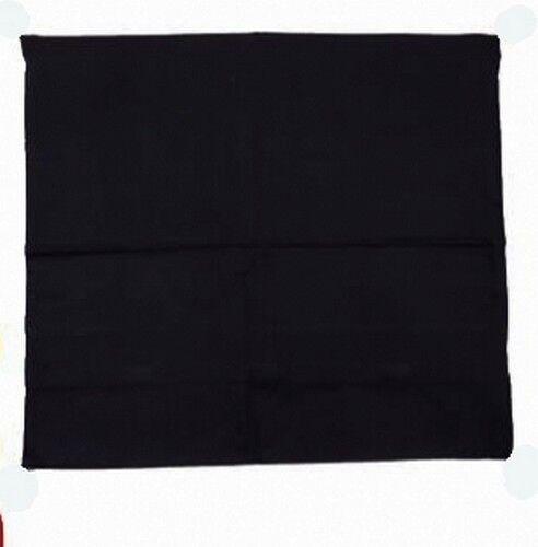 Meditationsmatte Yoga Matte schwarz  65 x 65 x 5 cm