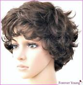 Ladies Medium Curly Wigs